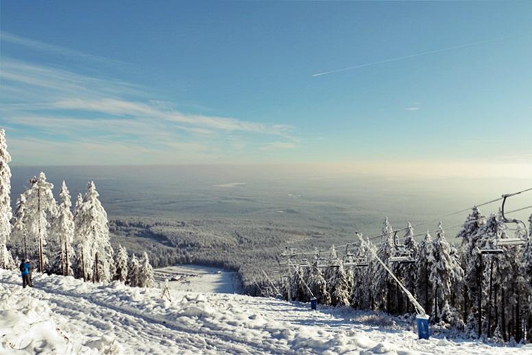Blick vom Wurmberg ins Tal