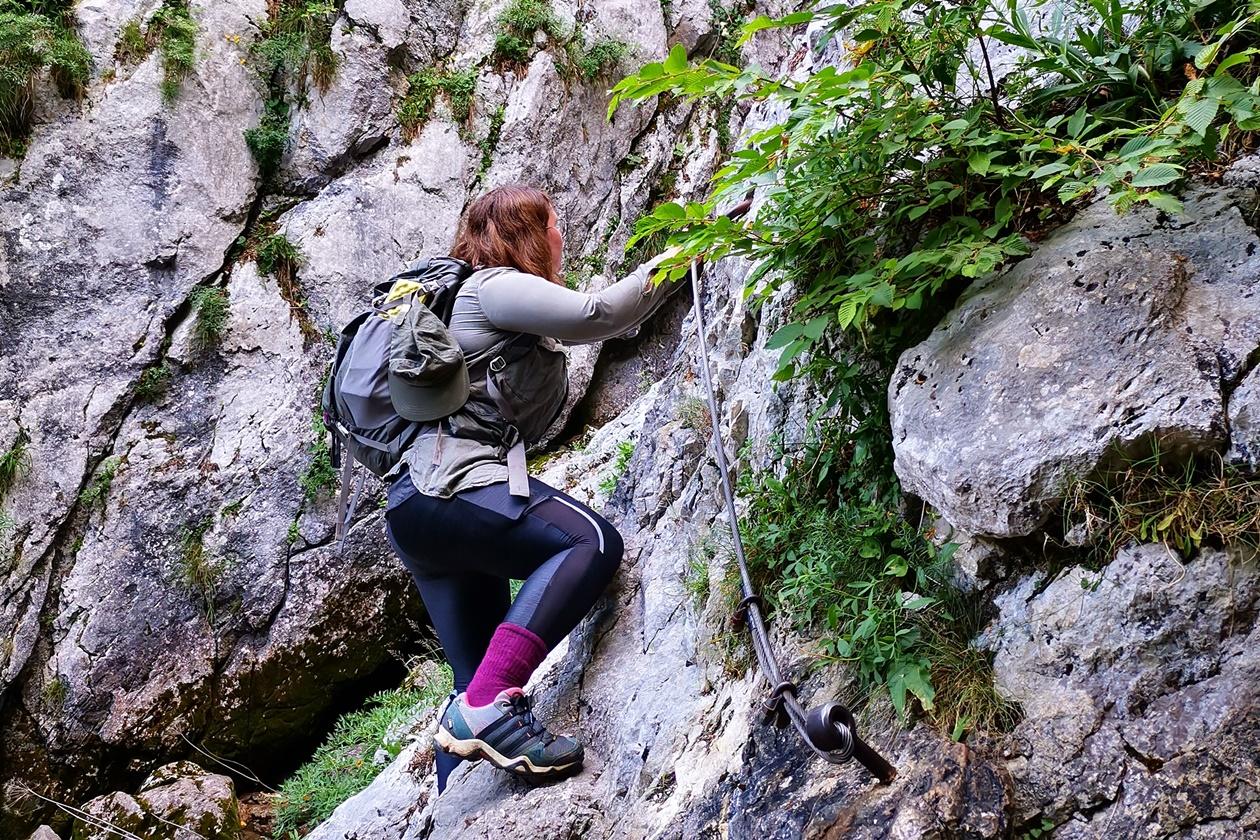 Weg zur Quelle der Soča mit Kletterpassagen