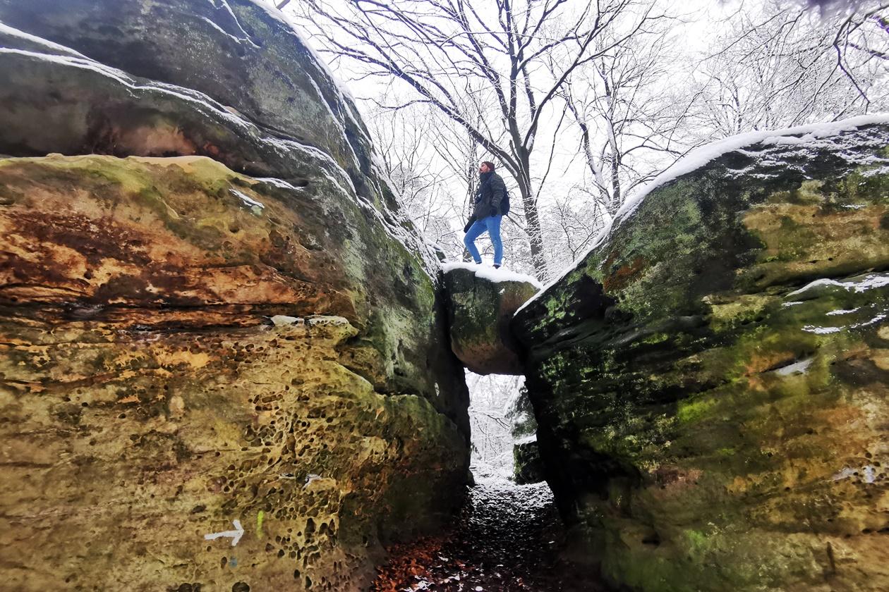 Boulderstein bei den Bodensteinerklippen