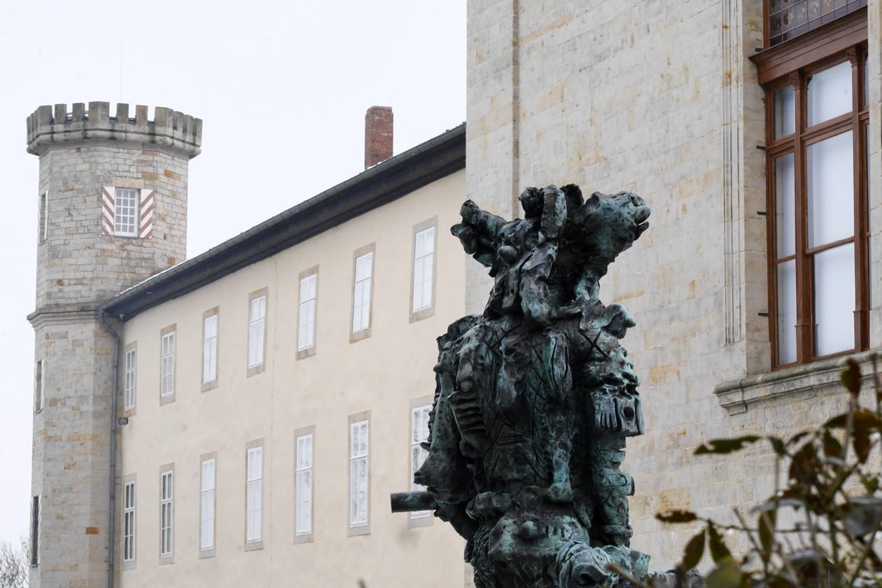 Detailaufnahme des Schloss Derneburg
