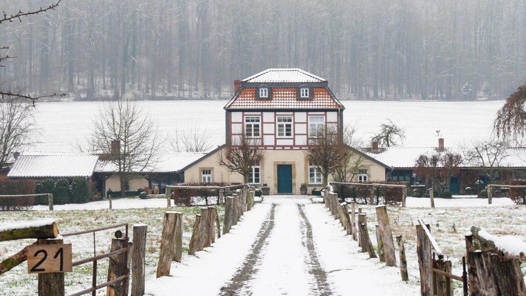 Historische Architektur auf dem Laves Kulturpfad